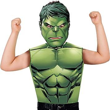 Marvel - Disfraz de Hulk set de fiesta camiseta + máscara, talla ...