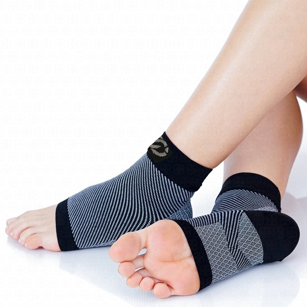 Compressions Plantar Fasciitis Socks (1 Pair) Foot Sleeves with Arch & Heel Support Treatment for Men & Women - Best to Brace Insoles for Relief (Small) by Compressions (Image #2)