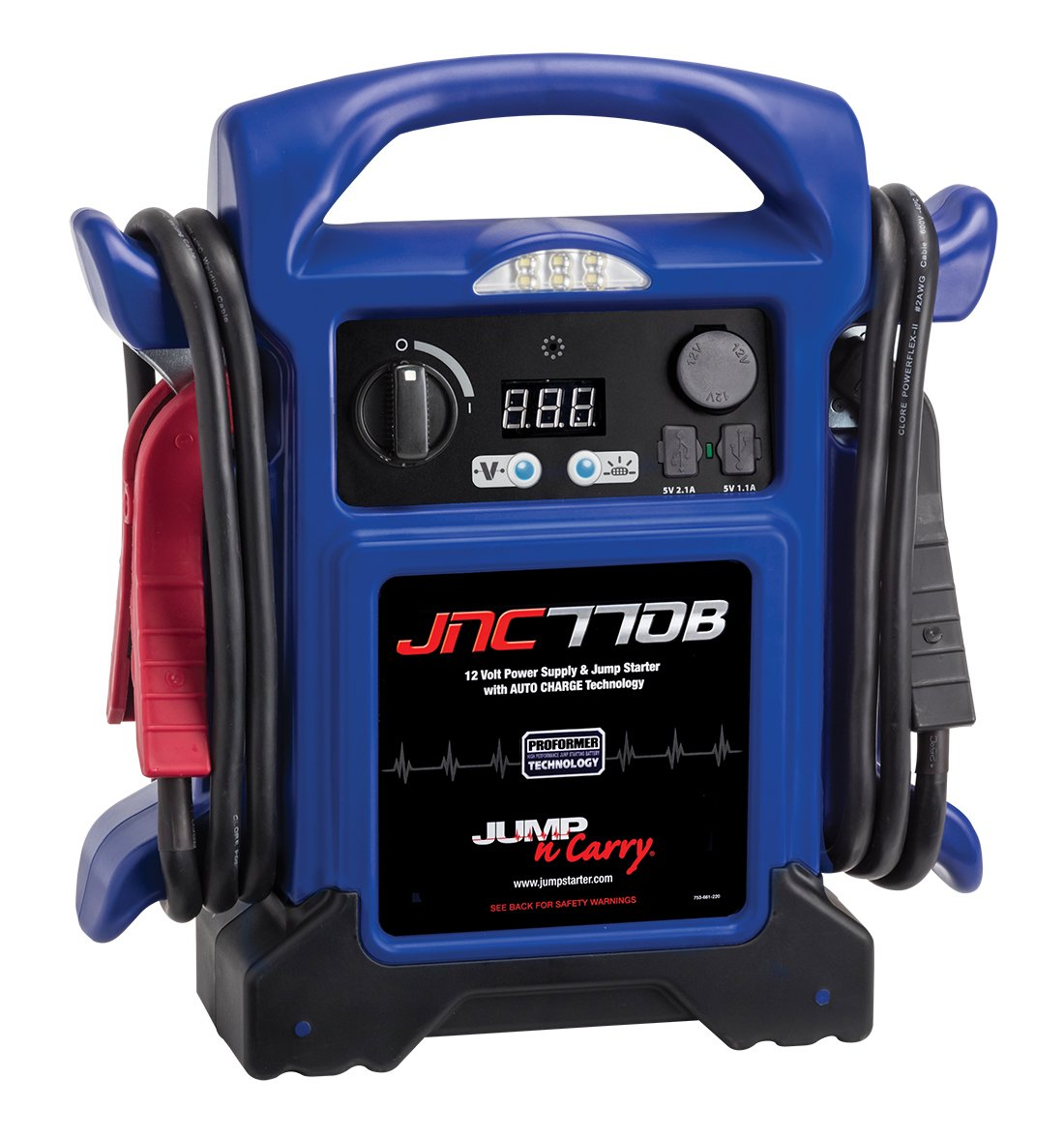 Clore Automotive Blue Jnc770b N Carry Premium Jump Auto Off Power Source Starter 1700 Peak Amp 12 Volt