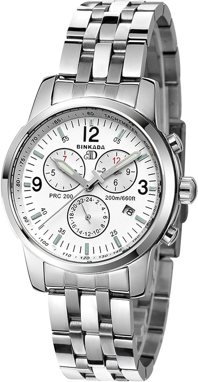 BINKADAメンズ用自動機械ホワイトダイヤルメンズ腕時計# 7002 m01 – 1 B01DZKWN4M
