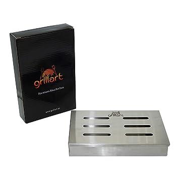 grillart Original ahumadora Ahumador de Acero Inoxidable 100%/Caja/Aroma Caja/Barbacoa