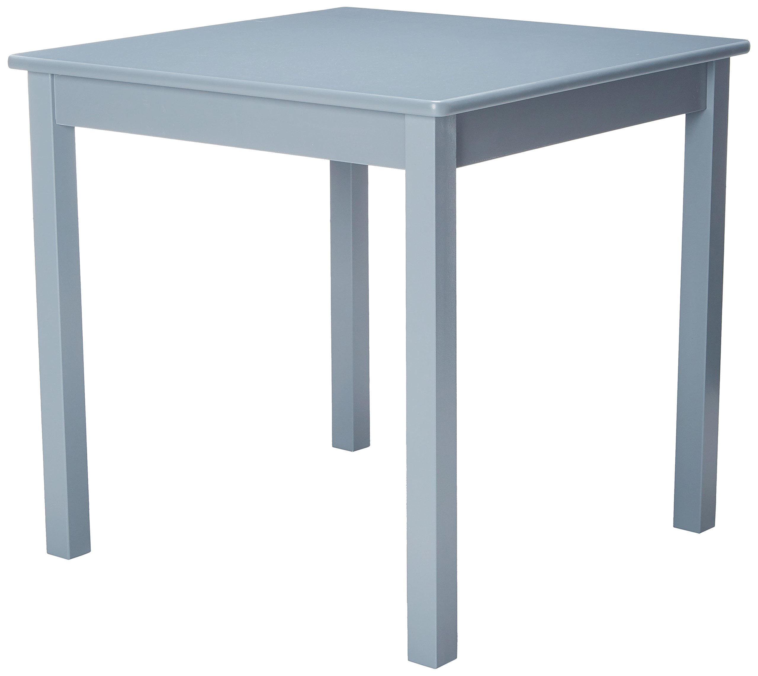 Lipper International Child's Table for Play or Activity, 23.75'' x 23.75'' Square, 21.66'' Tall, Grey by Lipper International