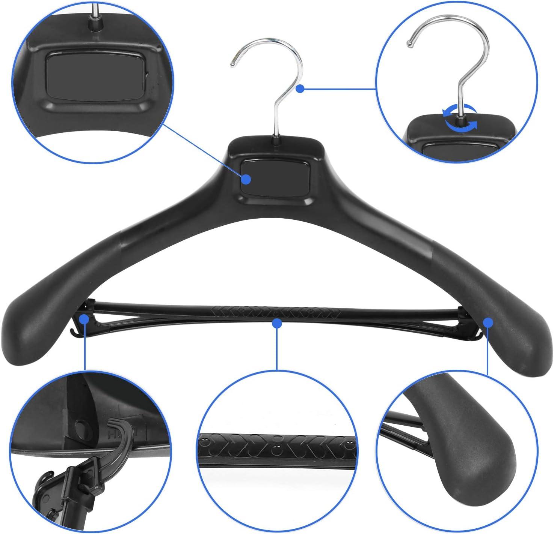Le G/éant du Cintre 20 x Cintre Veste//Costume Plastique Noir avec /épaules Larges 55 cm
