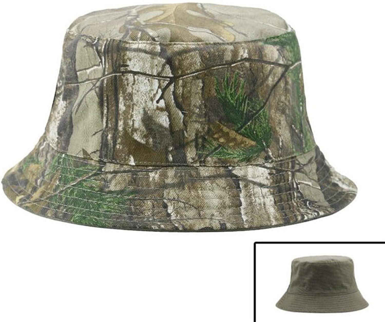 Camouflage Bucket Hats Camo Fisherman Hats with Wide Brim Sun Fishing Bucket Hat