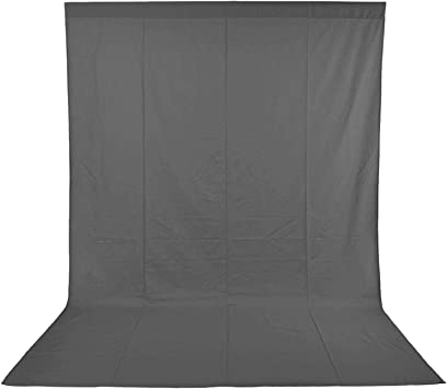 1.8 x 2.8M Pure Muslin Collapsible Backdrop with 5-Pack Spring Clamps for Photography,Video and Television Black Neewer/® Photo Studio 6 x 9FT