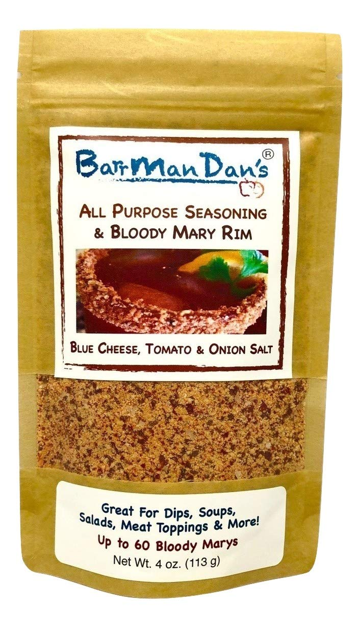 BarrManDan's All Purpose Seasoning & Bloody Mary Rim (Blue Cheese, Tomato & Onion Salt) 4 oz.