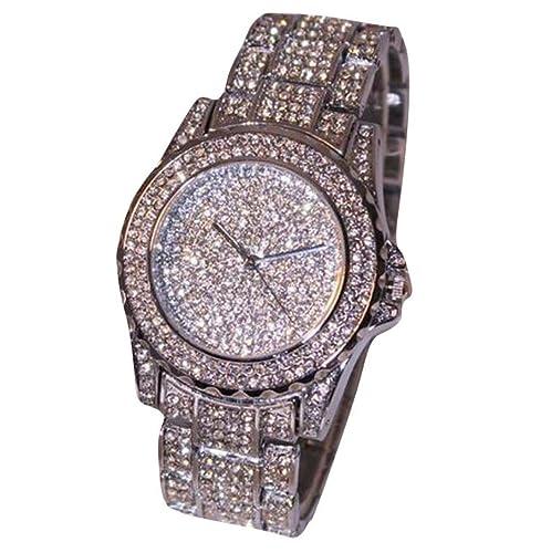 reloj- Susenstone Vestido dama relojes lujo mujer relojes rhinestone cerámica cristal cuarzo: Susenstone: Amazon.es: Joyería