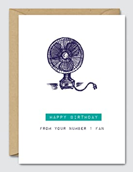 96a857ce0967f Happy Birthday from Your Number 1 Fan - Funny Birthday Card: Amazon ...