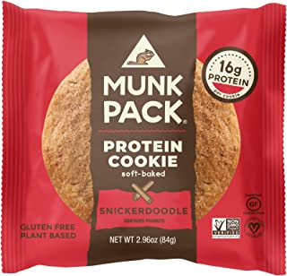 product image for Munk Pack Protein Cookie with 18 Grams of Protein, Soft Baked, Vegan, Gluten, Dairy and Soy Free (Snickerdoodle 12 Pack)