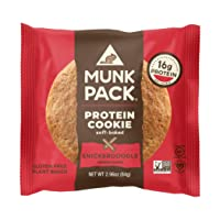 Munk Pack Snickerdoodle Protein Cookie with 16 Grams of Protein | Soft-Baked | Vegan...