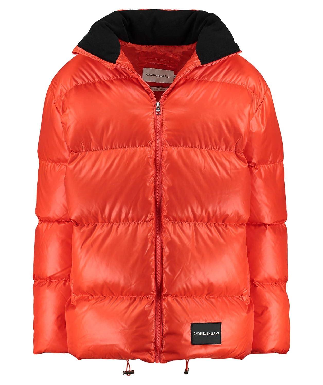 Calvin Klein Herren Daunenjacke orange (33) M: