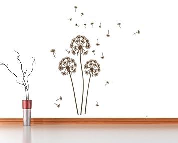Wandtattoo Pusteblume Braun Klein Löwenzahn Wohnzimmer Wandaufkleber  Wandsticker Wanddekoration Schlafzimmer Kinderzimmer Pflanzen Wiese Blumen