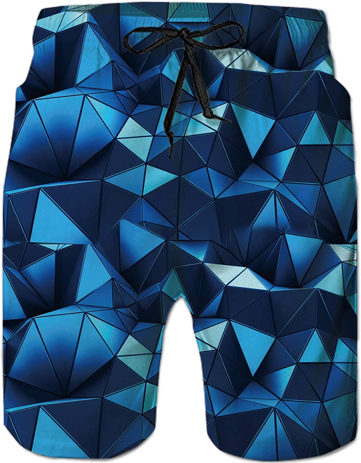 UNIFACO Men's Printed Swim Trunks Quick Dry Elastic Waistband Bathing Suits Board Shorts with Pockets S-XXL