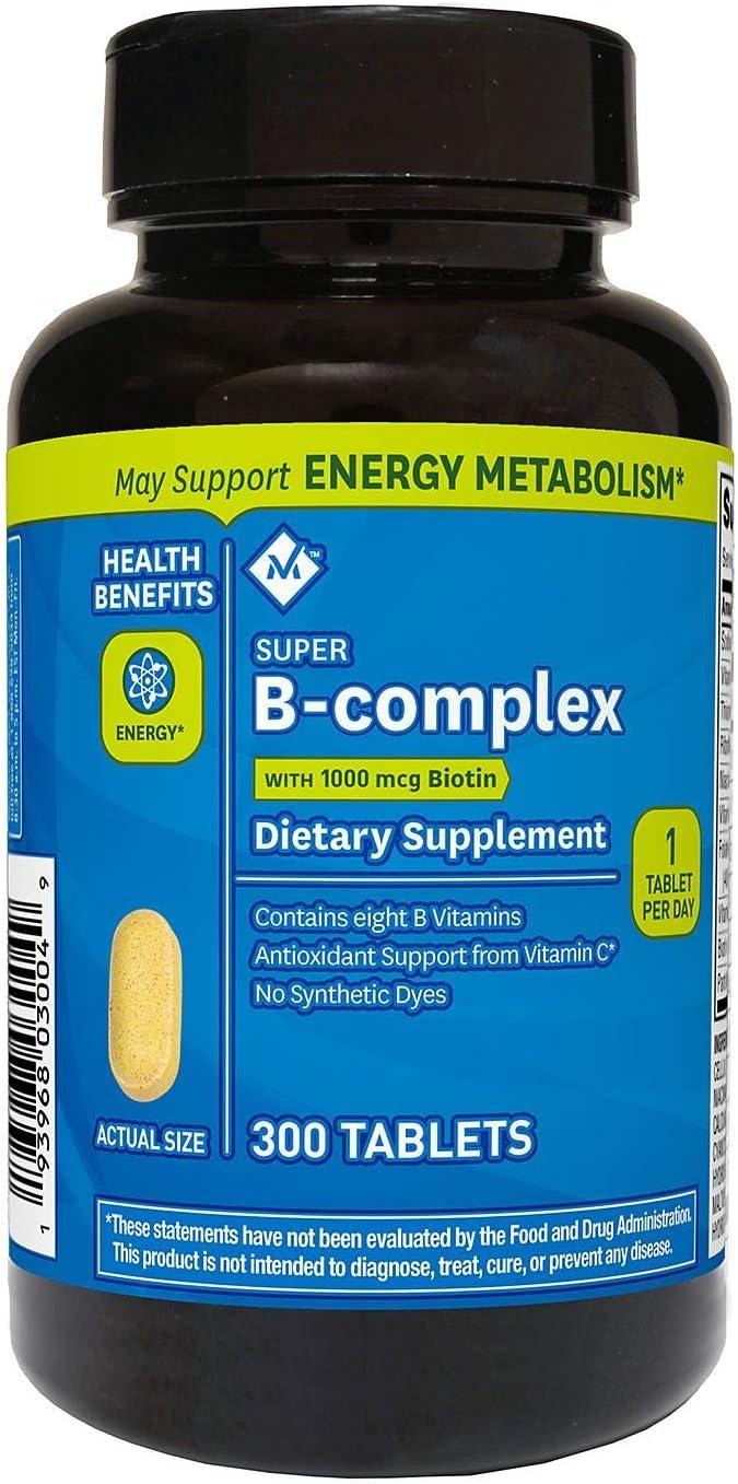 Members Mark Super B-Complex with Biotin Vitamin B and Vitamin C (1 Bottle (300 Tablets))