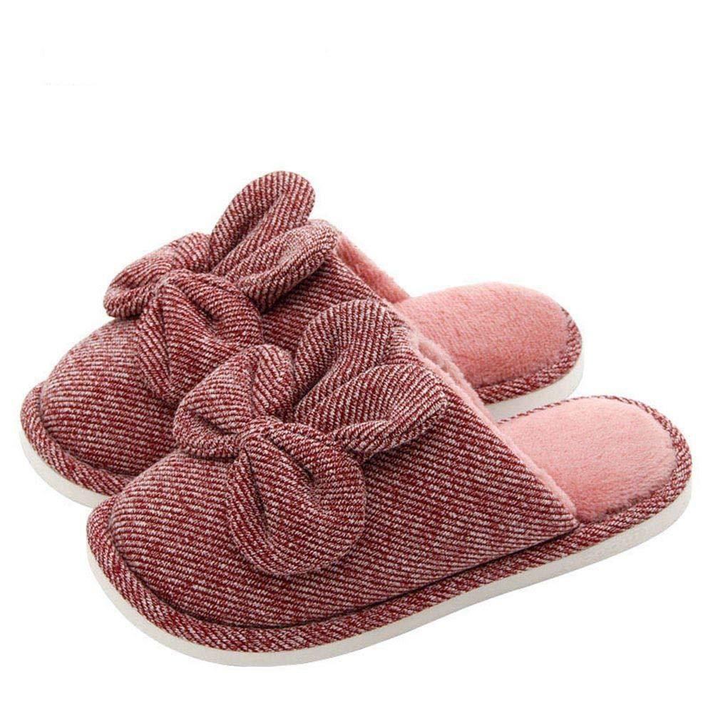 SALICEHB Frauen Hausschuhe Frauen Schuhe Weiche Baumwollgewebe Indoor Lovers Home Hausschuhe Weichen Boden Winter Warme Schuhe