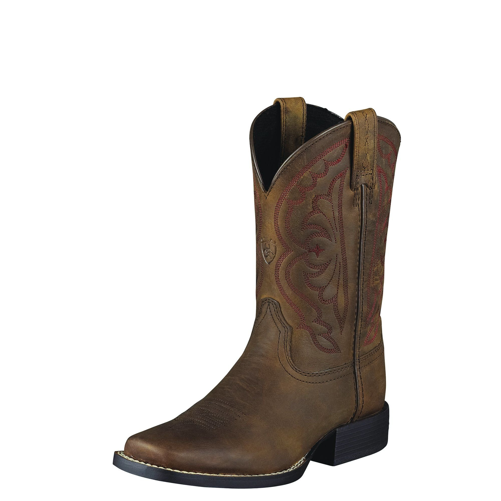 Ariat Girls Quickdraw Performance 6 M Distressed Brown
