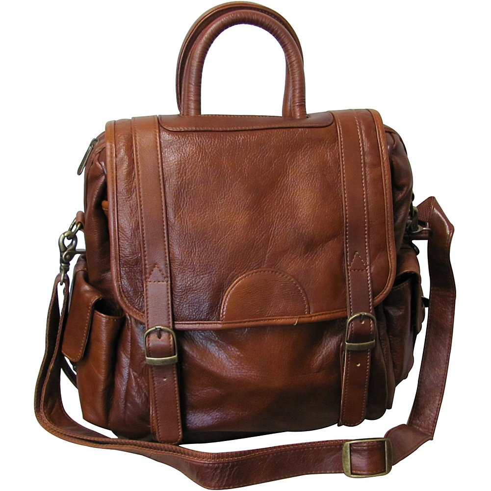 #1516-0 Black Leather Three-way Backpack