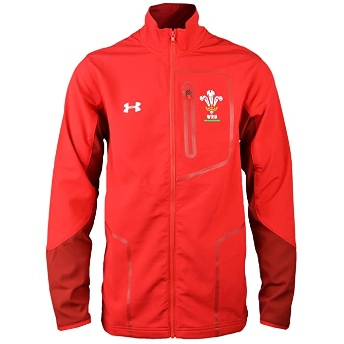 523d2694d07 Under Armour Wales WRU 2017/19 Players Rugby Presentation Jacket - Black:  Amazon.co.uk: Clothing