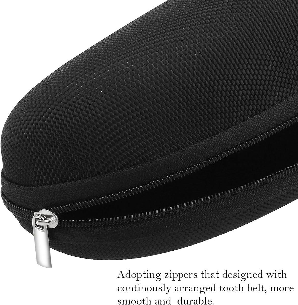 PIXNOR Sunglasses Eyeglasses Zipper Hard Case Protective Box with Hook Black