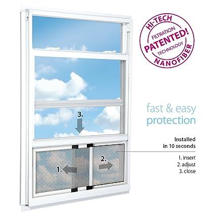 RESPILON Adjustable Window Screen   Protection Against Fine Dust, Diesel  Fumes, Anti Allergy,
