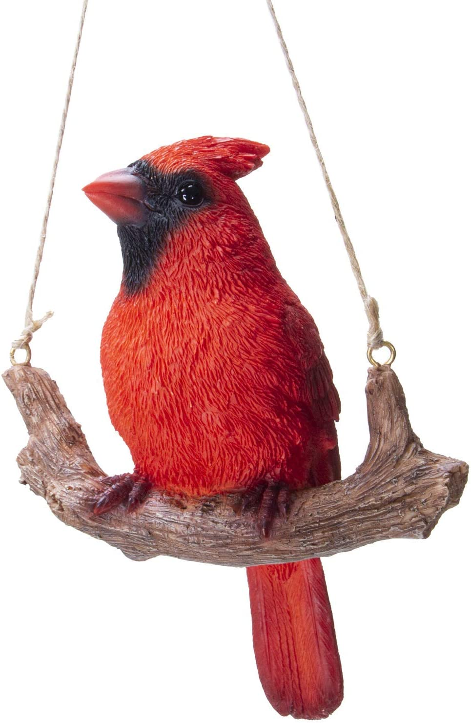 Pacific Giftware Hanging Red Cardinal Bird Perching on Branch Resin Figurine Sculpture
