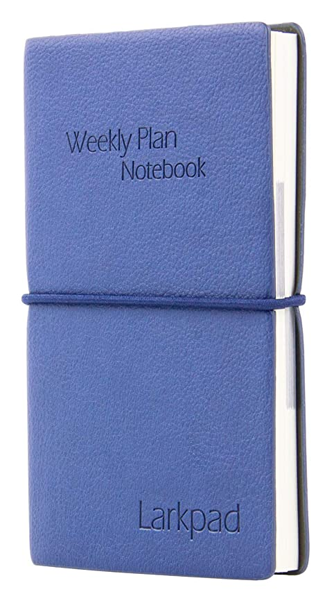 Larkpad Undate Pocket Planner & Ruled Notebook, 2 in 1, with 2 Book Marks, Inner Envelope, Flexiable as a 3.5