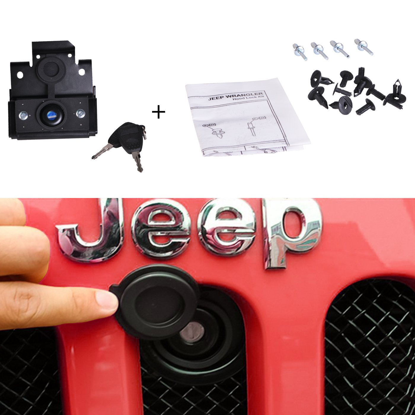 OMOTOR Off-Road Tailgate High Lift Jack Mount Bracket fit for Jeep Wrangler JK 2007 2008 2009 2010 2011 2012 2013 2014 2015 2016 2017 2018 (JK Tailgate Hi-Lift Jack Mount Bracket)