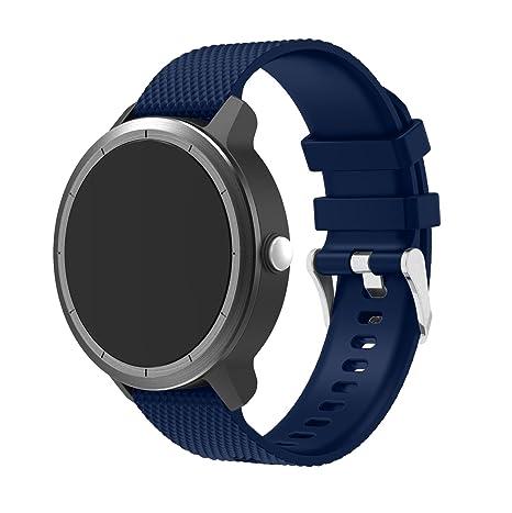 Correa de silicona de TopTen, de repuesto, para reloj Garmin Vivoactive 3, Smasung Gear S2 Classic SM-R732, Moto 360 2ª generación para hombre de 42 ...