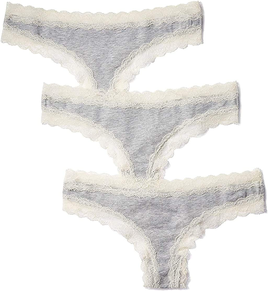 5-Pack Iris /& Lilly Womens Cotton Thong Panty Brand