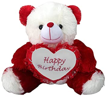 Buy Saugat Traders Birthday Gift For Girlfriend Wife Happy Teddy With Heart Soft Toy 40 Cm Online At Low Prices In India