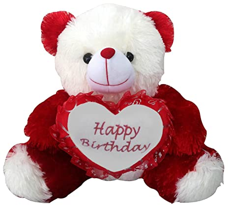 Saugat Traders Birthday Gift For Girlfriend Wife Happy Teddy With Heart Soft Toy