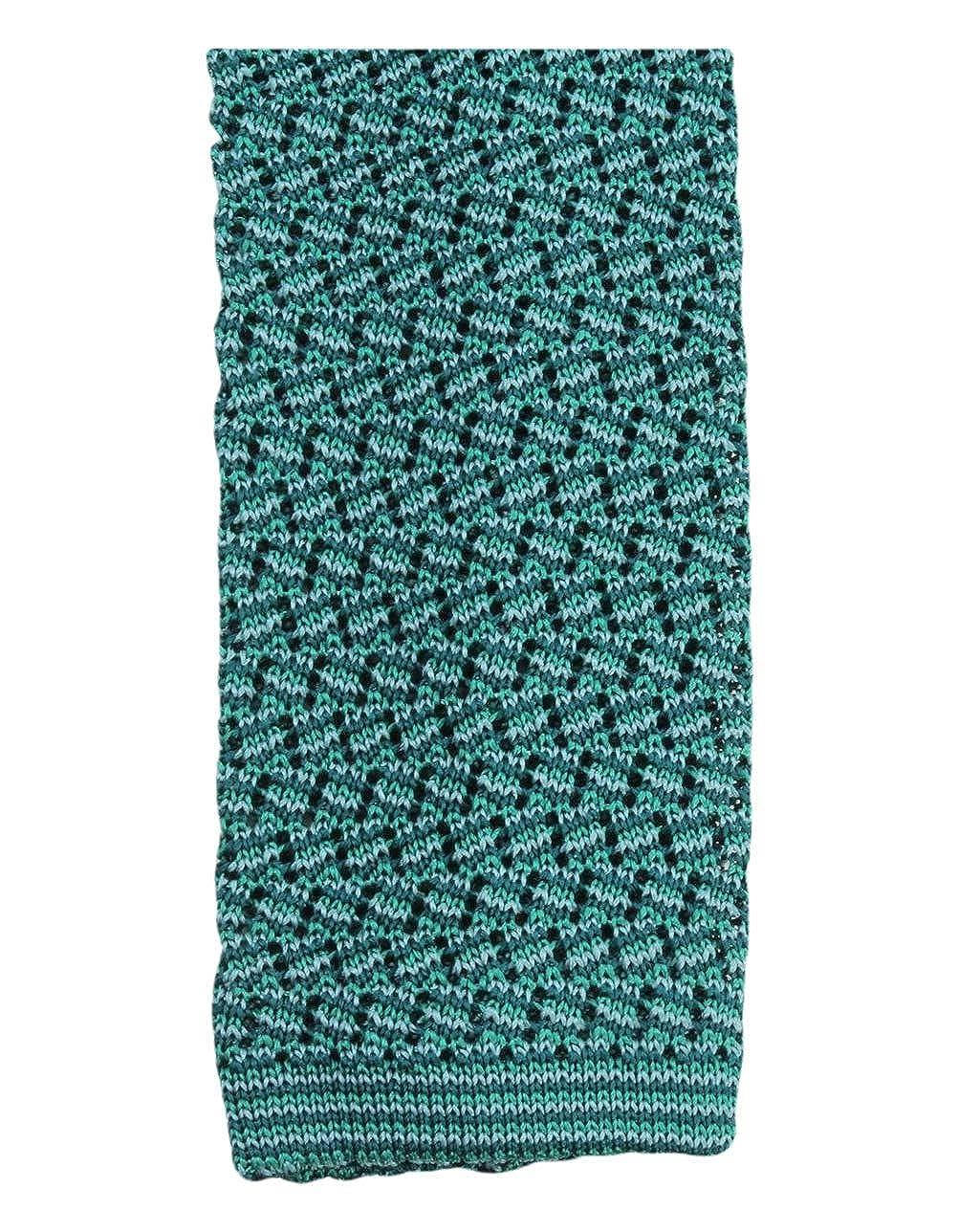KJ Beckett Mens Suzy Chevron Silk Tie Green//Emerald//Soft Green