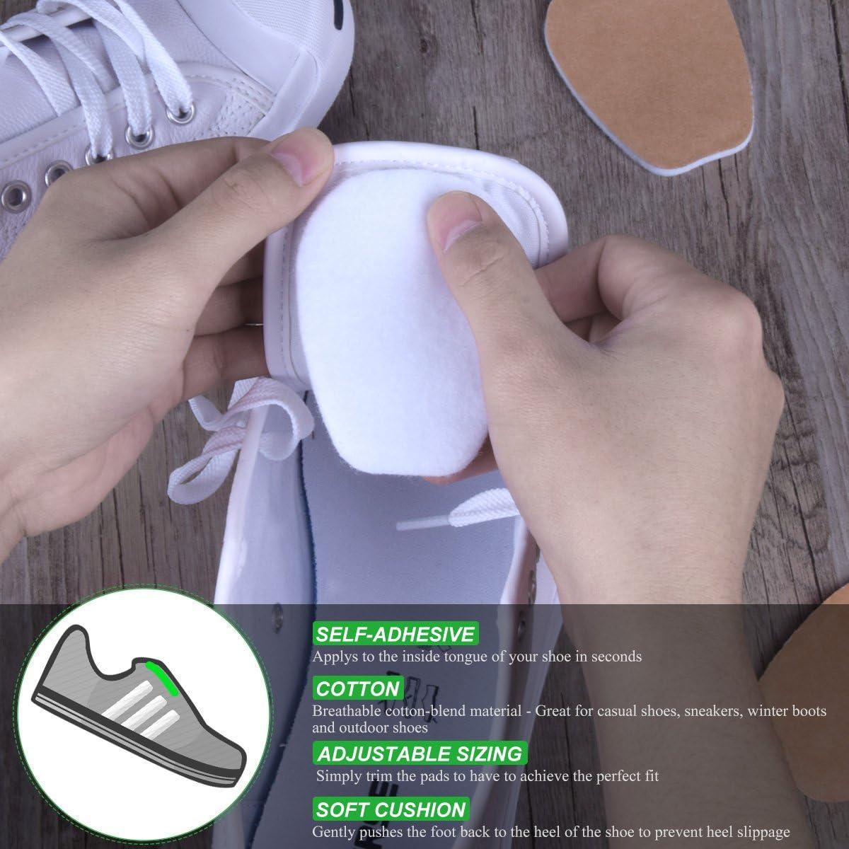 Felt Tongue Pads for Shoes, Size Large