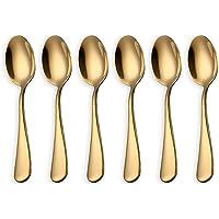 HOMQUEN Cucharas de café Dorado Brillante, cucharadas