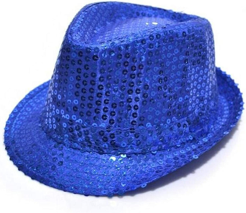 Kids Shiny Sunhat Children Boy Girl Stage Show Hat Fascinator Party Costume Fashion Sequins Hat Cap