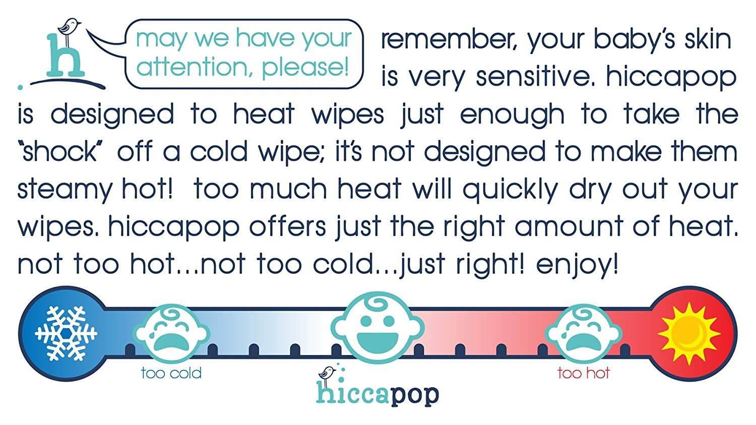 hiccapop Wipe Warmer and Baby Wet Wipes Dispenser | Holder | Case ...