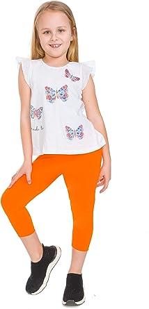 MITAAMI - Mallas de algodón para niñas (3/4 de longitud, ultra ...