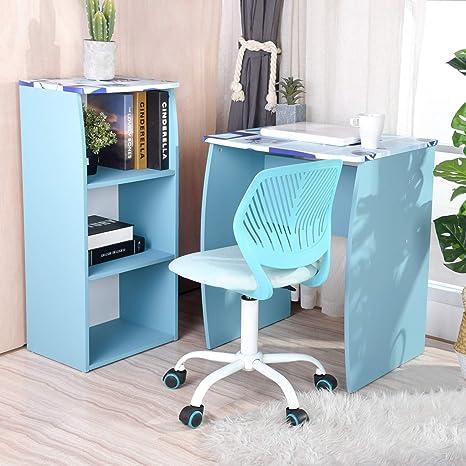 Astonishing Greenforest Kids Desk With Storage Shelf 3 Tier Study Desk Writing Desk For Boy Kids Blue Pabps2019 Chair Design Images Pabps2019Com