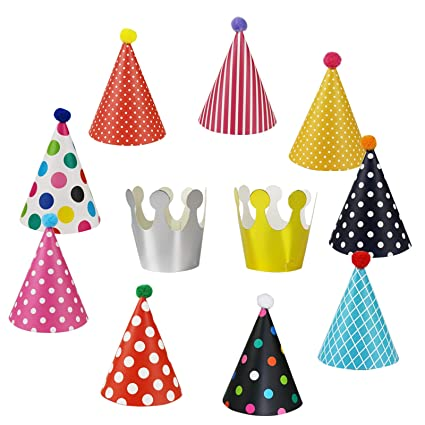 Amazon Wubao Birthday Party Hats Fun Set Kids Adults