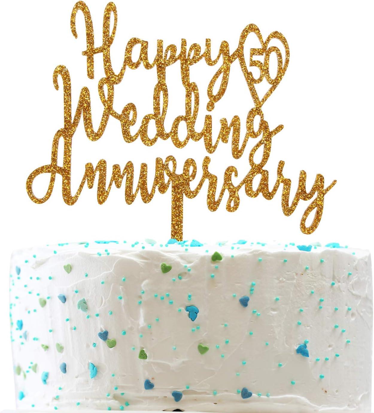 Happy 50th Cake Topper 50th Birthday//Wedding Anniversarye Party Decoration supplies