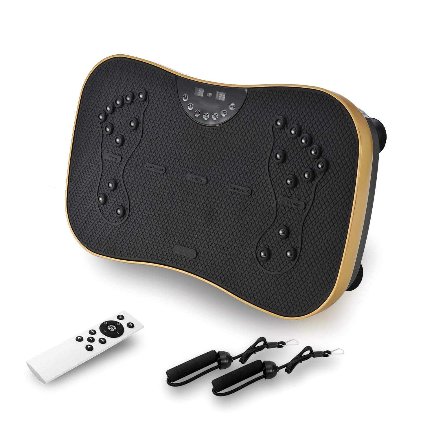 MIRUIKE Fitness Vibration Platform, Vibration Plate Whlie Body Shaking Oscillating Platform,with Remote Control & Two Resistance Bands