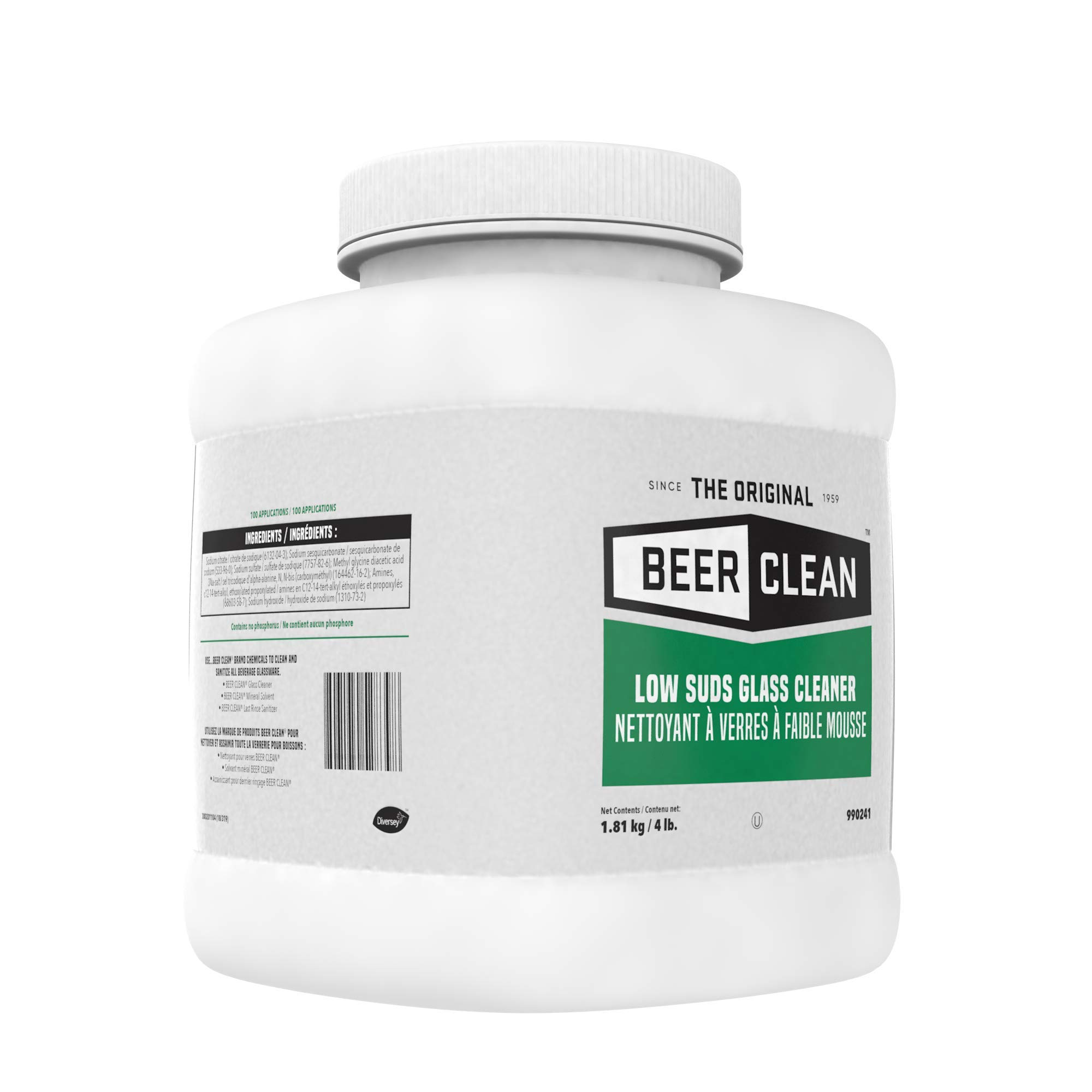 Diversey Beer Clean Low Suds Glass Cleaner (4-Pound, 2-Pack) by Diversey (Image #6)