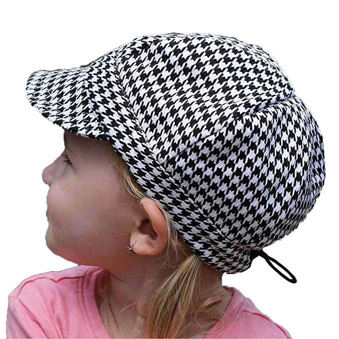 f22ce2fe Best Adjustable Baby Newsboy Hat for Fall Spring(S: 0 - 9m, Houndstooth