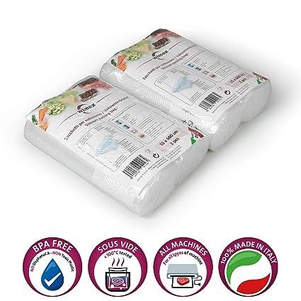 Wimex Bolsas AL Vacío para Alimentos Paquetes 100 Piezas (4 ...