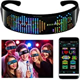 efiealls LED Bluetooth Glasses, Full Color LED Display Smart Glasses with APP Connected Control, DIY, Text, Graffiti…