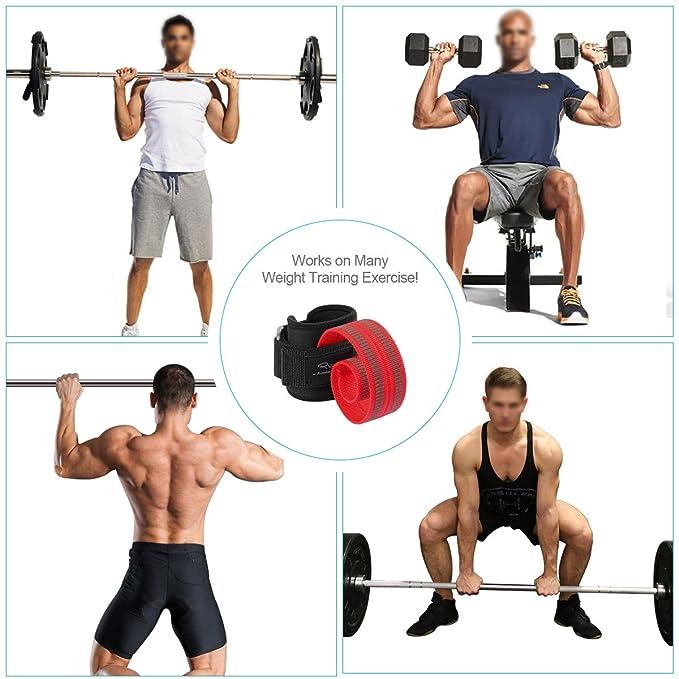 Amazon.com : Ryaco Lifting Straps Neoprene Padded Wrist Wraps for Weightlifting, Bodybuilding, Xfit, Crossfit, Powerlifting, MMA, Strength Training ...
