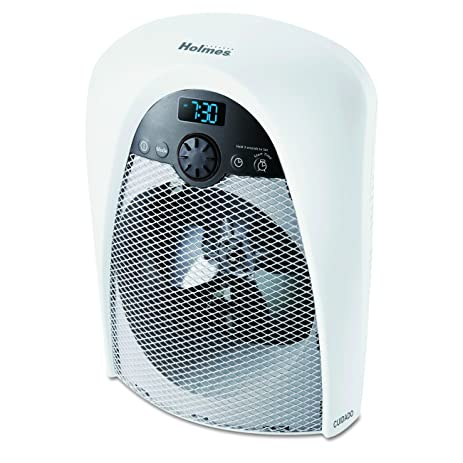 Holmes Digital Bathroom Heater Fan With Pre Heat Timer And Max Output HFH436WGL