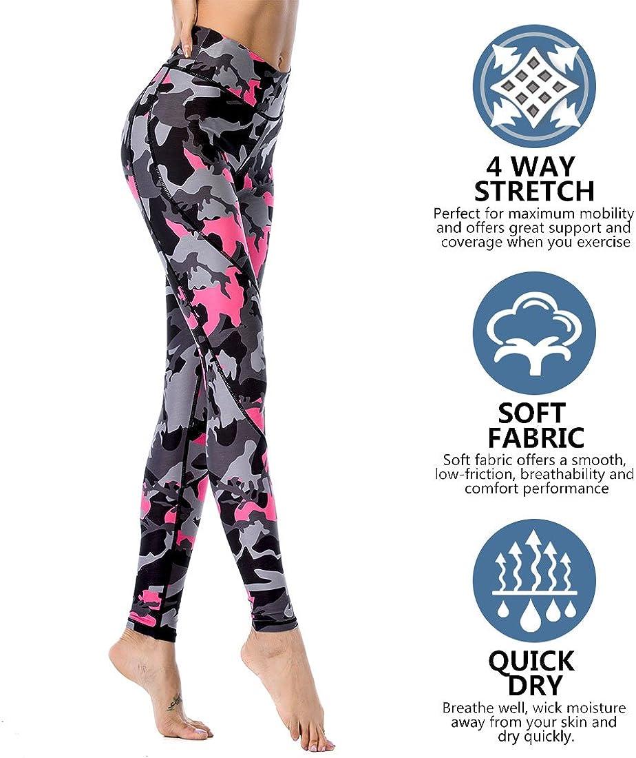 Chisportate Women High Waist Yoga Legging Power Flex Tummy Control Workout Stretch Sport Yoga Pants for Gym Exercise Fitness