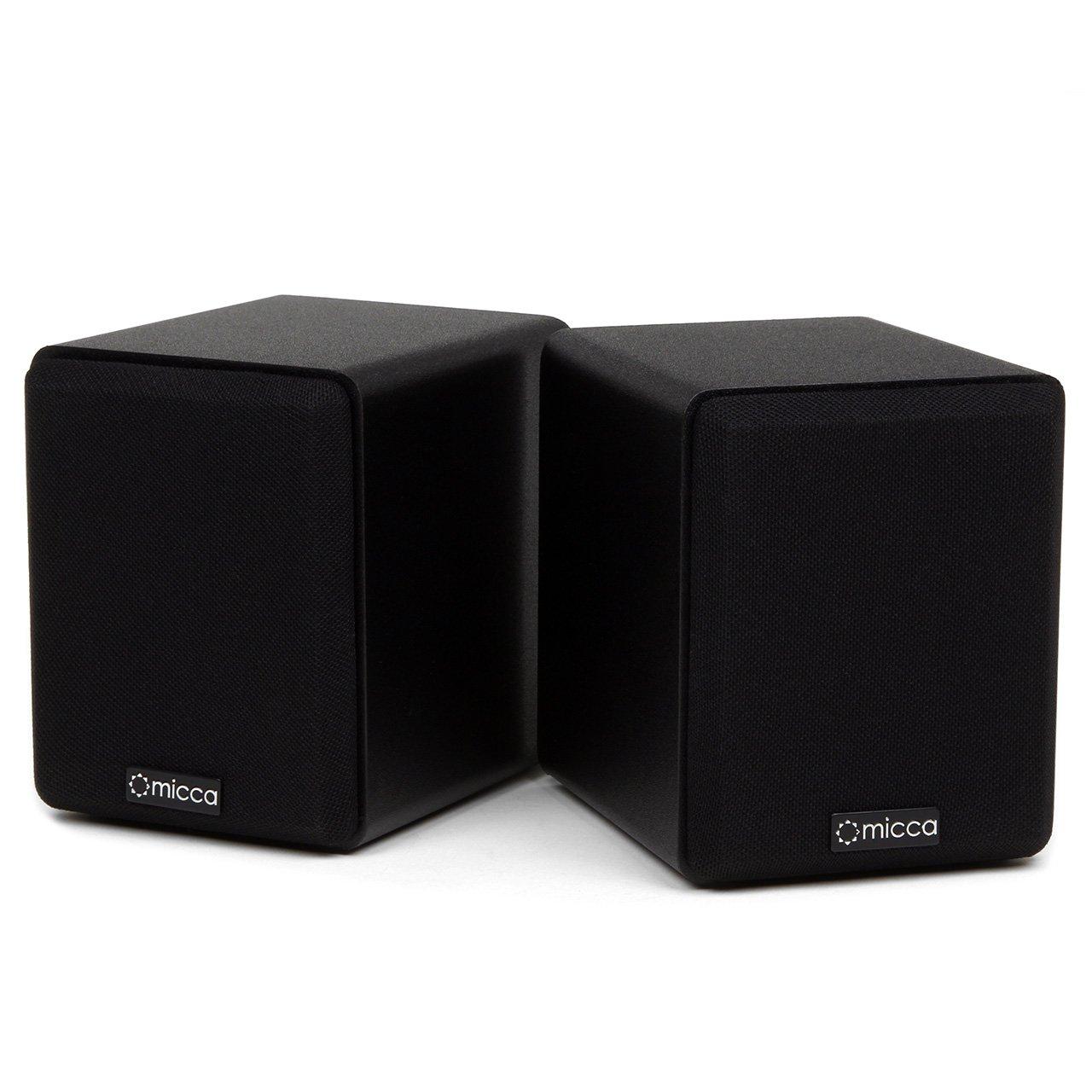 Micca COVO-S Compact 2-Way Bookshelf Speakers (Pair) (Certified Refurbished)