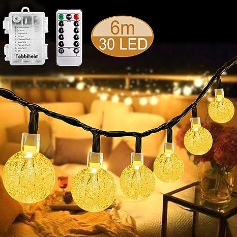 Lichterkette Tisch-Lampe Glas Leuchte Garten Terrase Balkon mit Fernbedienung